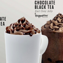 Starbucks: NEW Chocolate Black Tea Earl Grey Jelly Frappuccino® & Chocolate Black Tea Latte