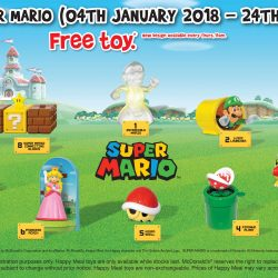 McDonald's: FREE Super Mario Toy with Every Happy Meal Purchased