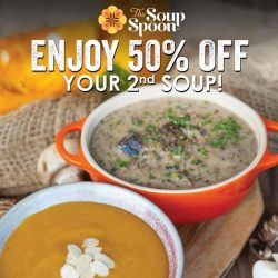 [The Soup Spoon] 50% off 2nd Soup!