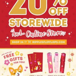[Ripples] Come and enjoy 20% OFF storewide this festive season at our retail stores and online at www.