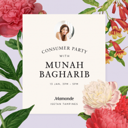 [Isetan] It's always a party when Munah Bagharib shows up!