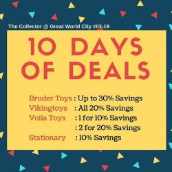 [The Collector] 10Days of Deals from 8th Jan to 18th Jan!
