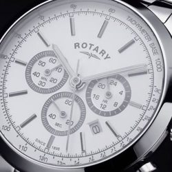 [All Watches / Aptimos] Perfect for recording time with great accuracy, the Rotary Cambridge Chronograph is the ideal watch for the sophisticated sportsman.