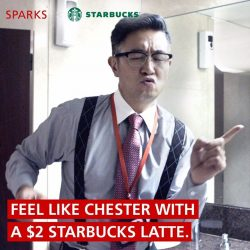[DBS Bank] Get that extra Spark with a $2 Starbucks latte this Friday (26 Jan 2018)!