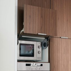 [Blum & Co] Cabinet with front that lifts vertically.