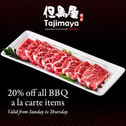 [Tajimaya Yakiniku / Shabuya] Citibank Exclusive: 20% off all BBQ a la carte items at Tajimaya YakinikuValid till 28 February 2018 for Citibank