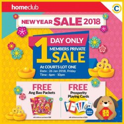 [Courts] Get ready for the upcoming Chinese New Year with exclusive offers only for HomeClub members!