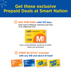 "[M1] Free $5 NTUC Voucher with any $18 and above E-load top up, and more at ""SMART Nation-Ready Seniors"""