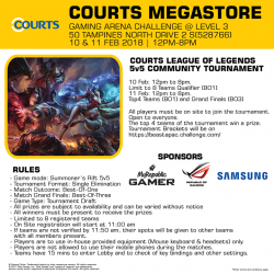 [Courts] Think you've got the skills to play your way to the top?
