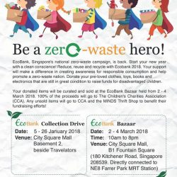 [City Square Mall] Join us and Eco-Business in reducing and reusing for good!