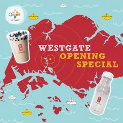 [Westgate Mall] Join us to celebrate the grand opening of Gong Cha Singapore at 02-27!