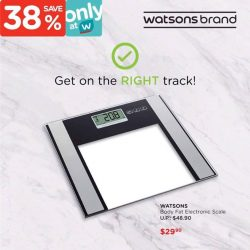 [Watsons Singapore] Did you know that muscle is heavier than fat, so tracking your weight is not the best measure of your