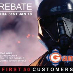 [GameMartz] Get $50 REBATE on PS4 Pro 1TB Star Wars Battlefront 2 Special Edition console.