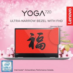 [Lenovo] Edged on three sides with razor-thin bezels that maximize your viewing experience the Yoga 720 looks ultrafine with premium