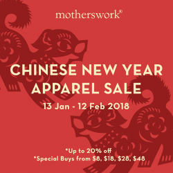 [motherswork] Ring in the lunar new year with us, and our storewide apparel sale!