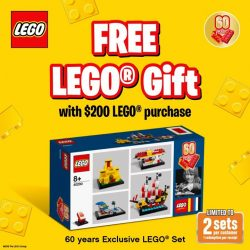 [Bricks World (LEGO Exclusive)] Exclusive Gift with Purchase – 60 Years of the LEGO® Brick (40290)Join us as we celebrate LEGO® 60th Anniversary!