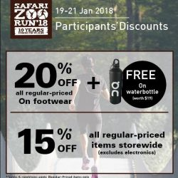 [Running Lab] Last few hours before end of Day 2 for SafariZooRun2018 race pack collection.
