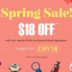 [Best Denki] Here's $18 OFF for this Chinese New Year & Spring cleaning period.