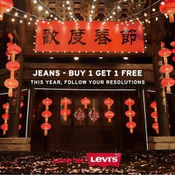 [Levi's] Festive Promotions for a Festive YouJeans - Buy 1 Get 1 FreeLimited period only!