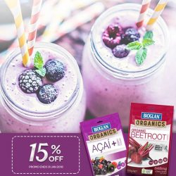 [Watsons Singapore] Revitalize and boost your energy with Bioglan® Berry + Beet Smoothies, in just simple ingredients and few steps!