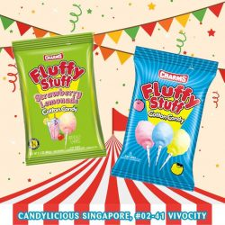 [Candylicious] Enjoy Charms Fluffy Stuff Cotton Candy whenever the carnival mood strikes!