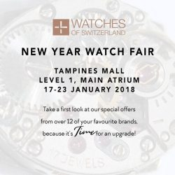 [WATCHES OF SWITZERLAND] There's an array of spectacular timepieces including special deals for Aigner awaiting you from 17 – 23 January 2018 at