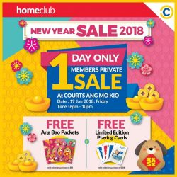 [Courts] Exclusively for HomeClub members, enjoy GREAT deals of up to 80% OFF for your Chinese New Year celebrations when you