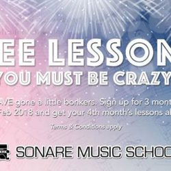 [Sonare Music School] Free music lessons?