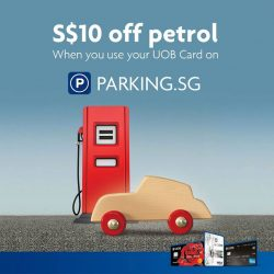 [UOB ATM] Conveniently pay for parking with your mobile phone AND fuel up for less only with UOB Cards!
