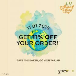 [GroVe / Utopia] In support of @eatethically111 movement on 11 January(Thursday), we pledge to ChangeForGood by offering 11% off all items at