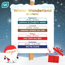 [Watsons Singapore] Congratulations to our 4 lucky winners!