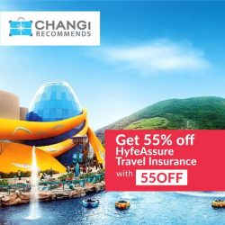 [Changi Recommends] Enjoy 55% OFF your travel insurance with code: 55OFF and get covered for your travel adventures for as low as $