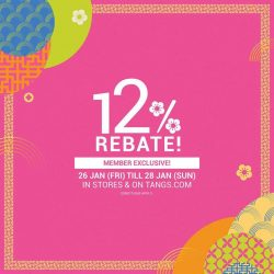 [Tangs] 12% Rebate continues today!
