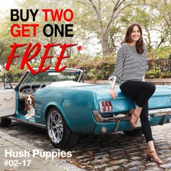 [City Square Mall] Hush Puppies' Buy-2-Get-1-Free* promotion is now on, till 14 Jan!