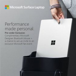 [Best Denki] Pre-Order your Microsoft Surface Laptop now & get a FREE Microsoft designer Bluetooth mouse PLUS stand a chance to win