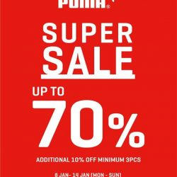 [Changi City Point] Enjoy up to 70% off merchandise at Puma Super Sale!