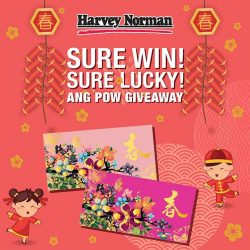 [Harvey Norman] Guaranteed over S$688,888 worth of cash vouchers up for grabs at HarveyNormanSG Sure Win Sure Lucky Ang Pow