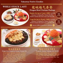 [Dragon Bowl] Lunar New Year 2018 a Year of Prosperity with Dragon Bowl Takeaway Festive Goodies*龍碗福气套餐* Dragon Bowl Fortune PackagePackage includes:龍碗发财盆菜