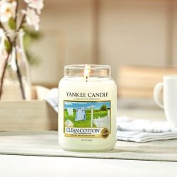 [Yankee Candle] What better way to end your day than to come home to the smell of freshly laundered cotton?