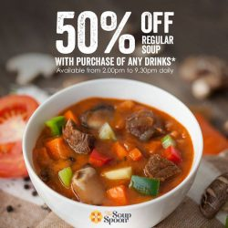 [The Soup Spoon] Take 50% off any regular soup!
