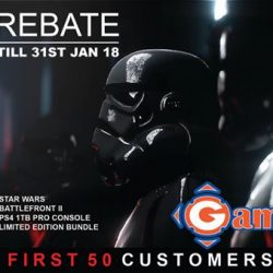 [GameMartz] Get $50 REBATE on PS4 Pro 1TB Star Wars Battlefront 2 Special Edition console with 27 Months Sony Singapore Warranty.