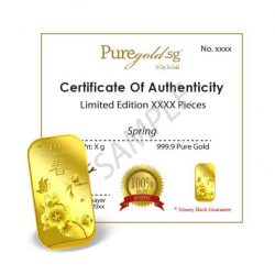 [Puregold] Another new design for New Year coming it's a 1g GOLD BAR Spring seasons 🌺 Spring season is the start
