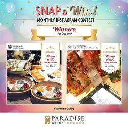 [Paradise Group] Winners for our December Snap & Win contest are out!