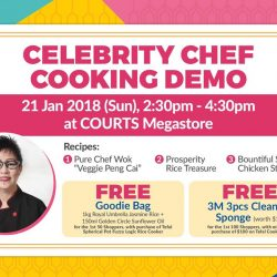 [Courts] Join Chef Lisa this Sunday afternoon (21 Jan) at COURTS Megastore for a cooking demo of uniquely Chinese dishes like