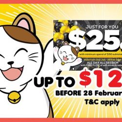 [Manekineko Karaoke Singapore] Dear customers, your $25off vouchers are available to used in any Manekineko outlet from now till 28th February!