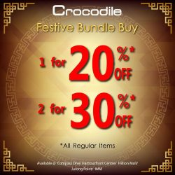 [Crocodile] Celebrates 2018 with Prosperous New Year Bundle Deal Shop with us, and enjoy up to 30% off.