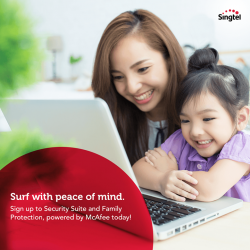 [Singtel] Feel secure while you surf, download, email and shop online with FREE 3 months subscription on Fibre Broadband Add-ons -