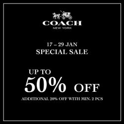 [Isetan] Start your CNY shopping at the Coach Special Sale!