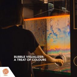 [Elements @ Play by Science Centre Singapore] Check out this cool exhibit, the Bubble Extension Colour Visualiser, at the end of your mirror maze adventure!