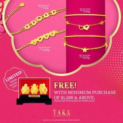 [Taka Jewellery Treasures] Welcome the Year of The Dog with TAKA Jewellery 999 Gold.